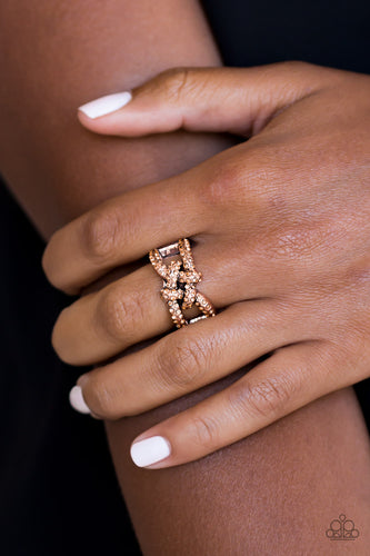 Paparazzi Can Only Go UPSCALE From Here Copper Ring