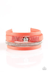 Paparazzi Catwalk Craze Orange Urban Bracelet