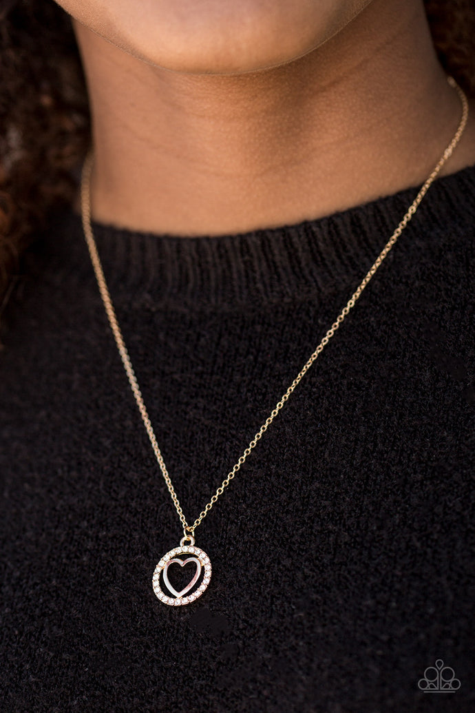 Paparazzi Change Of HEART-THROB Gold Necklace Set