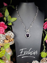 Load image into Gallery viewer, Paparazzi Exclusive Check Your Heart Rate Purple Necklace Set