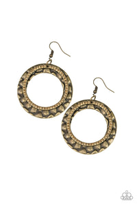 Paparazzi Cinematic Shimmer Brass Earrings
