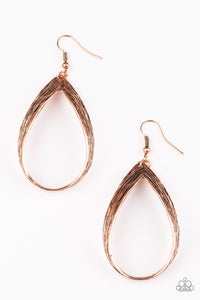Come REIGN or Shine Copper Earrings