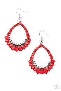 Paparazzi Crystal Waters Red Earrings
