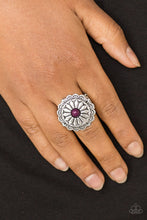 Load image into Gallery viewer, Paparazzi Daringly Daisy Purple Ring