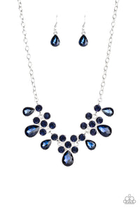 Paparazzi Debutante Drama Blue Necklace Set