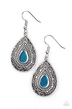 Load image into Gallery viewer, Desert Storm Blue Earrings