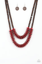 Load image into Gallery viewer, Paparazzi Dominican Disco Red Necklace Set