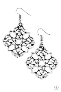 Paparazzi Elaborate Scheme Silver Earrings