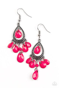 Paparazzi Enjoy The Wild Things Pink Earrings