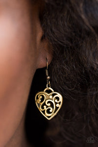 Paparazzi FILIGREE Your Heart With Love Brass Necklace Set