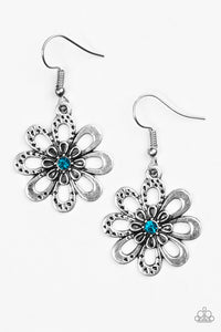 Paparazzi Fashion Floret Blue Earrings