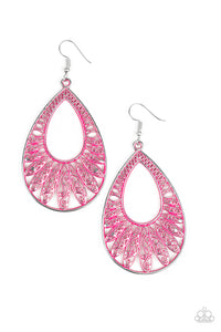 Paparazzi Flamingo Flamenco Pink Earrings