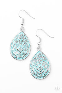Paparazzi Flirty Flower Girl Blue Earrings