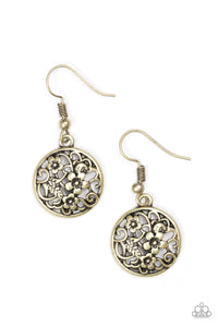 Paparazzi Flower Patch Perfection Brass Earrings