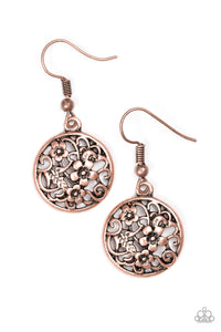 Paparazzi Flower Patch Perfection Copper Earrings