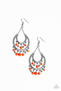 Paparazzi Free-Spirited Spirit Orange Earrings