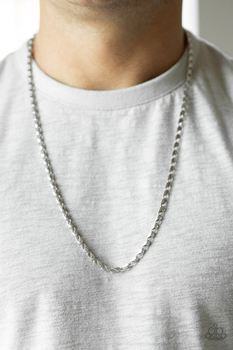 Featuring clasp-like links, an ornate silver chain drapes across the chest for a causal look. Features an adjustable clasp closure.  Sold as one individual necklace.  Always nickel and lead free.