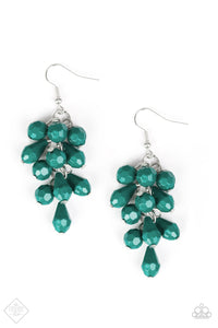 Paparazzi Fabulously Flamenco Green Earrings