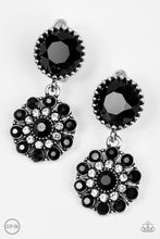 Load image into Gallery viewer, Paparazzi Glittering Gardenias Black Clip On Earrings