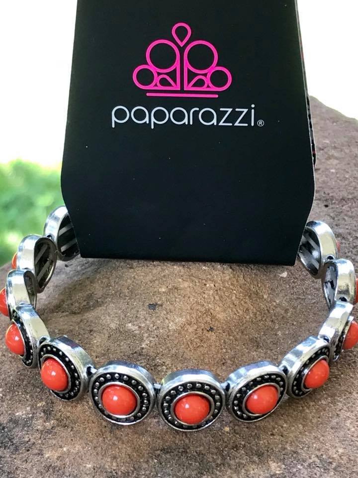 Paparazzi Globetrotter Goals Orange Bracelet