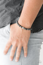 Load image into Gallery viewer, Essential Oil Alert!!! Infused with silver accents, earthy lava rocks and natural stone beads are threaded along a stretchy band for a seasonal look.  Sold as one individual bracelet.  Always nickel and lead free.