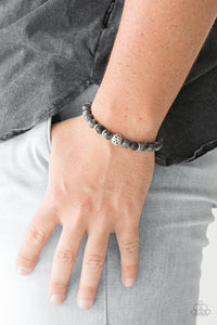 Essential Oil Alert!!! Infused with silver accents, earthy lava rocks and natural stone beads are threaded along a stretchy band for a seasonal look.  Sold as one individual bracelet.  Always nickel and lead free.