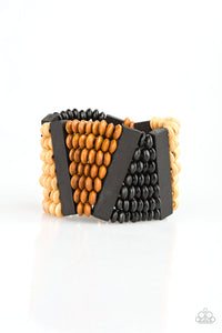 Paparazzi HAUTE In Hispaniola Black Bracelet