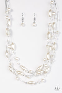 Paparazzi Happy Is The Bride White Necklace Set