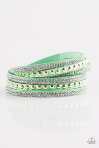 Paparazzi I BOLD You So! Green Double Wrap Bracelet