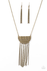 Paparazzi Incredibly Incan Brass Necklace Set