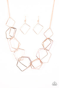 Industrial Chaos Rose Gold Necklace Set