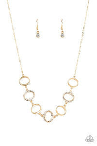 Paparazzi  Inner Beauty Gold Necklace Set