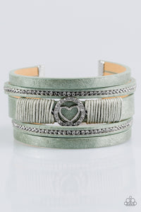 Paparazzi It Takes Heart Green Bracelet