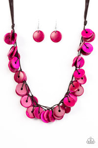 Paparazzi Jammin In Jamaica Pink Necklace Set