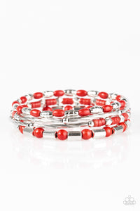 Paparazzi Just CONGO With It Red Infinity Bracelet
