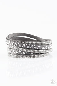 Paparazzi Limited Sparkle Silver Double Wrap Bracelet