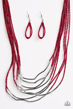 Load image into Gallery viewer, Paparazzi Living The GLEAM Red Necklace Set