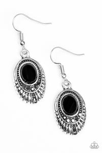 Paparazzi Look HUEs Talking! Black Earrings