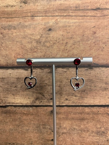 Paparazzi Starlet Shimmer Love on a Wire Red Earrings