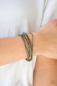 Mainstream Maverick Brass Spring Wire Bracelet - Paparazzi