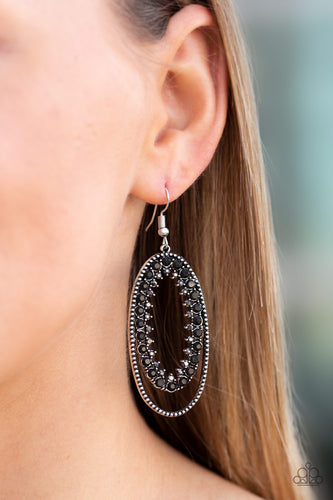 Paparazzi Marry Into Money Black Earrings