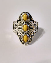 Load image into Gallery viewer, Exclusive Mayan Motif Yellow Ring