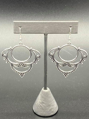 Paparazzi Exclusive Metallic Macrame Silver Earrings