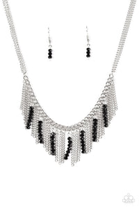 Paparazzi Metro Jungle Black Necklace Set