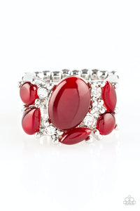 Paparazzi Modern Moonwalk Red Ring