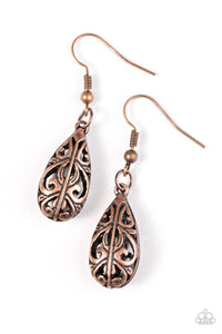 Paparazzi Monsoon Music Copper Earrings