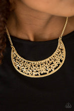 Load image into Gallery viewer, Paparazzi Moroccan Moon Gold Necklace Set