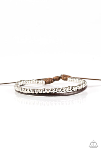 Paparazzi Mountain Mod Brown Bracelet/Anklet