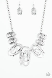 Paparazzi My Cave Is Your Cave Silver Necklace Set