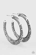 Load image into Gallery viewer, Paparazzi New Zealand Native Silver Hoop Earrings
